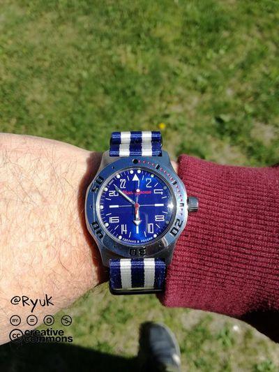 Watch Outdoors Clock Wristwatch Streamzoofamily TheVille Vostok Komandirskie K35 24 Hours Watch Made In Russia