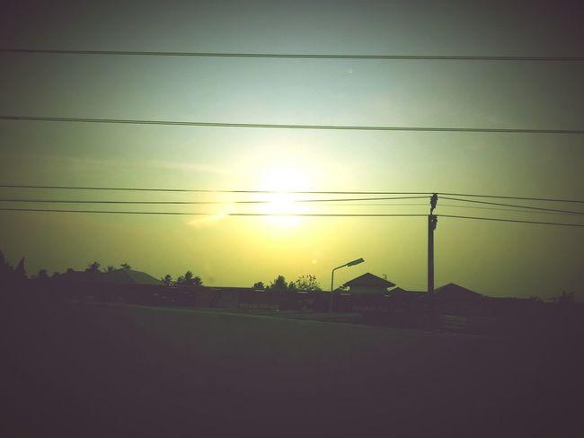 Sunset Sun Evening Sky Thailandsky Lomo Lomography