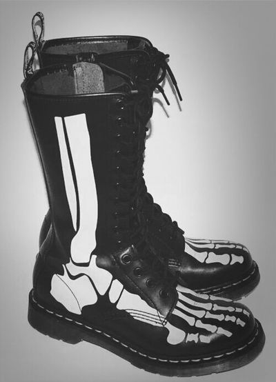 Skull Combat Boots Combat Boots Fashion Goth