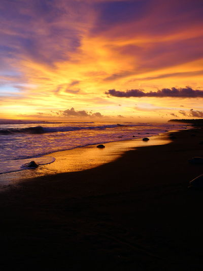 Ostional Wildlife Photography No People Nofilter Noedit Costa Rica Turtles Tortoise Lumix Love Water Low Tide Wave Sea Sunset Beach Sand Red Flamingo Tide Romantic Sky Atmospheric Mood Sky Only Coastal Feature Atmosphere Dramatic Sky Coastline Surf Moody Sky My Best Photo