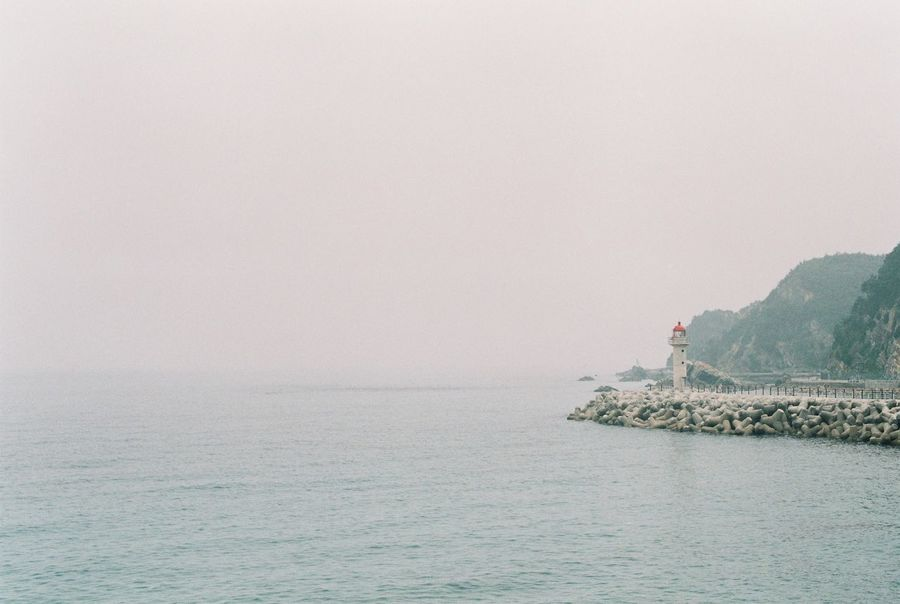Beauty In Nature Clear Sky Copy Space Day Film Film Photography Filmcamera Fm2 Horizon Over Water Korea Nature Nikon No People Outdoors Rippled Scenics Sea Sky Tranquil Scene Tranquility Water Waterfront