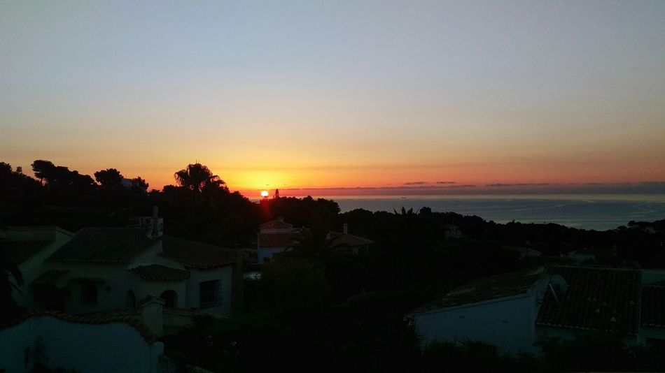 Sunrise SPAIN Javea Xabia Early Morning Quiet On My Own  Peace Sea View Rooftops Roof Terrace