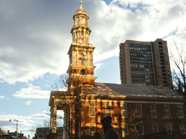 Haetford, CT. Architecture City Built Structure Cloud - Sky Tower Low Angle View Hartford Ct  Adapted To The City Churches Church Tower Light And Shadow The City Light #urbanana: The Urban Playground