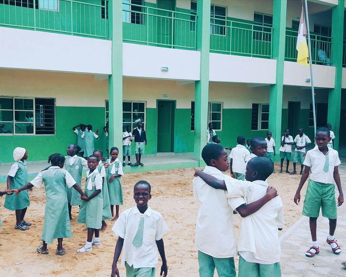 The Color Of School Jimeta Northern Nigeria Nigeria