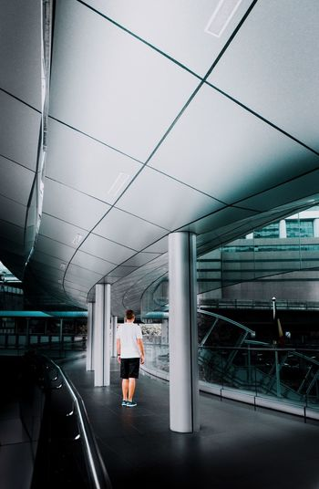 Future Futuristic Architecture Futuristic Architecturelovers Architectural Column Architecture Getty Images EyeEm Best Shots EyeEm Selects The Week on EyeEm Full Length One Person Architecture Standing Built Structure Adult Indoors  Rear View Travel Transportation Casual Clothing Building Modern Real People