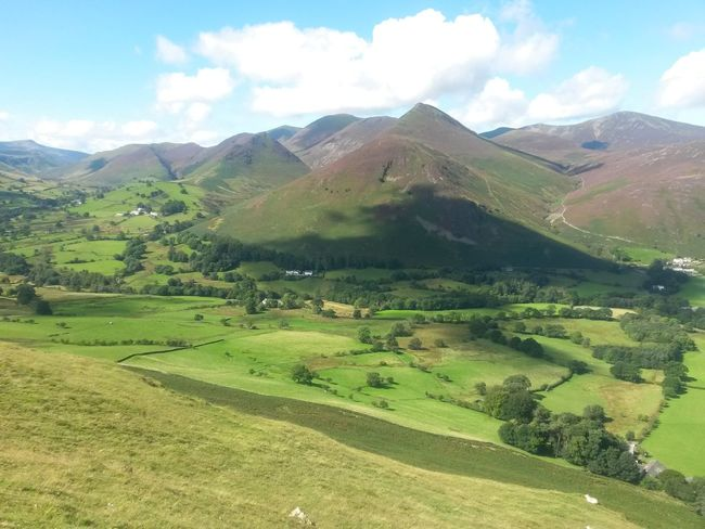 Mountain Landscape Mountain Range Nature Cloud - Sky Rural Scene Outdoors Scenics Day No People Pasture Hiking Tranquil Scene Clouds Blue Sky, White Clouds The Lake District