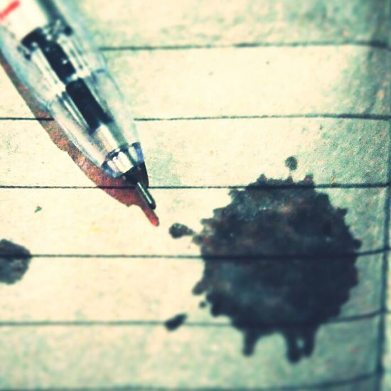 Stains of the Ink No People Close-up Pen Notebook Notes Frofirsm The Underground Ink Inkedlife Inked First Eyeem Photo