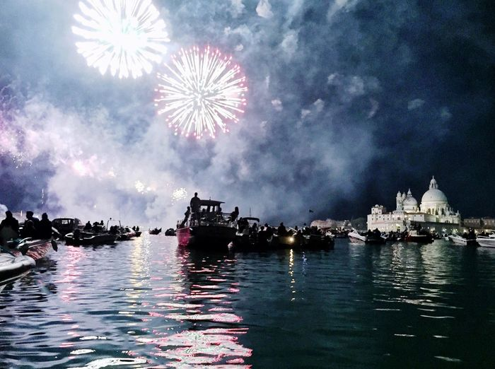 Tranquility Architecture Sky Waterfront Outdoors Firework Display Exploding Night Firework