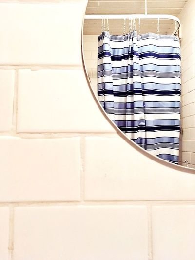 Blue Monday No People White Background Day Abstract Daily Life Daily Grind  Bathroom Shower Stripes Indoors