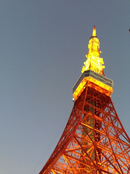 Tokyo Tower Architecture Built Structure City Clear Sky Low Angle View Sky Tall - High Tourism Tower