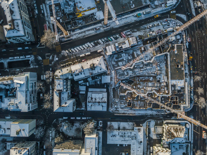 Architecture Built Structure No People Building Exterior Day Backgrounds High Angle View Full Frame Outdoors Aerial View Old Factory City Connection Metal Building Industry Residential District Transportation