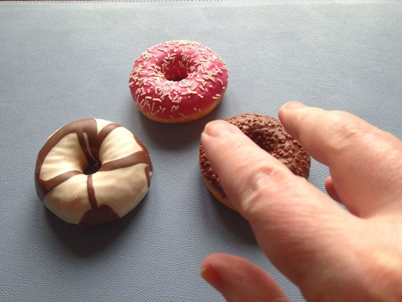 Grab Grabbing Taking  Doughnut Donut Hand Temptation Sweet Food Irresistable