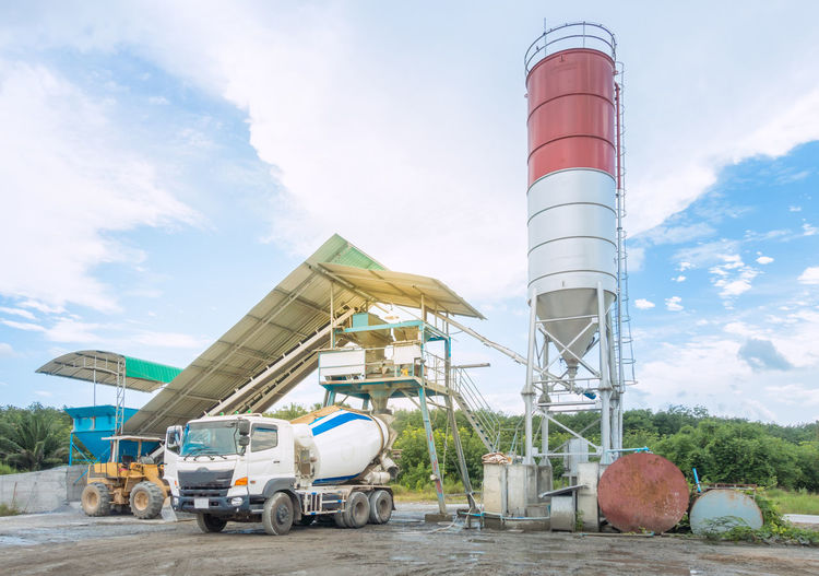 Car Concrete Concrete Plant Mix Factory Mix Silo Transportation Truck