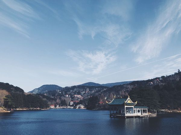 Mountain Sky Water Outdoors Waterfront Nature Nautical Vessel Lake Beauty In Nature