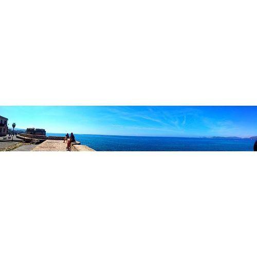 Alghero. Sardinia Sardiniapics Landscape Landscapelovers Alghero Capocaccia Bay City CoastToCoast Seaside Niceweather Bluesky Bluesea Lungomare Sunnyday Trip 3hdriving Sardiniaexperience Mustdo