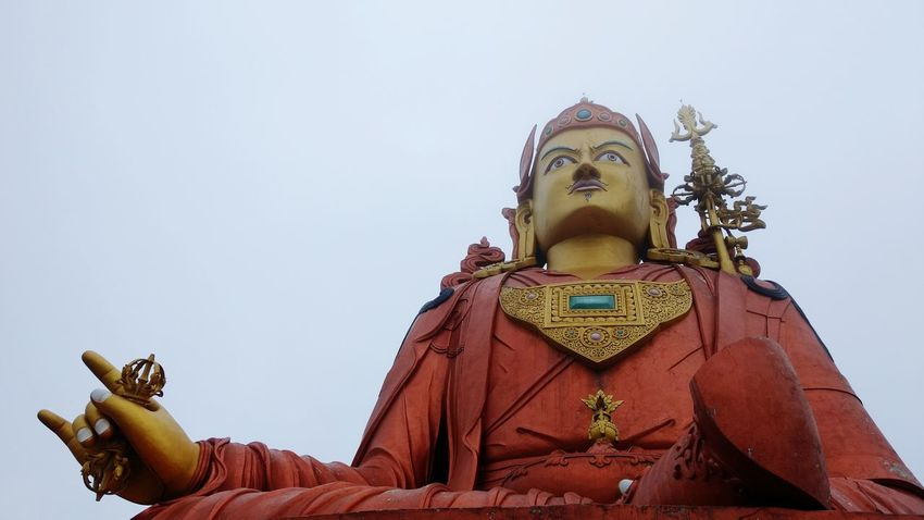 Swami Padmasambhaba Statue Religion Travel Destinations Outdoors Travel Namchi Buddhism BUDDHISM IS LOVE Buddhist Culture Buddhist Monastery Sculpture Gold Clear Sky People Day Sky EyEmNewHere