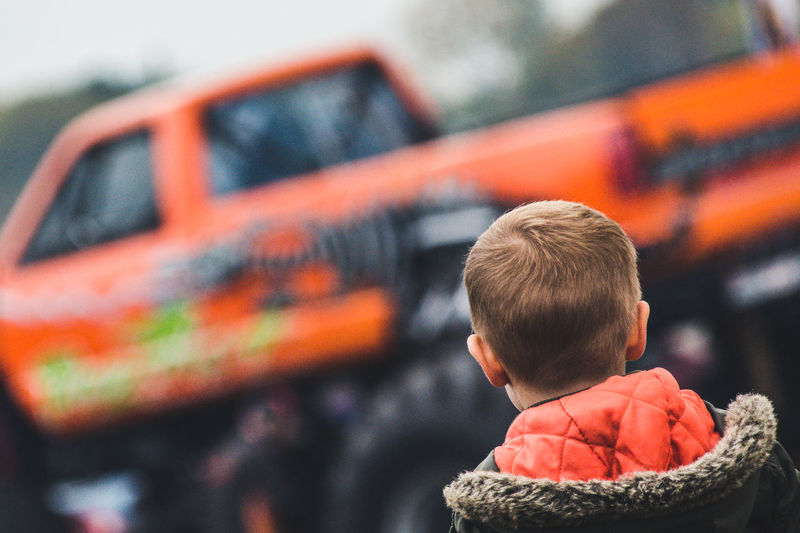 Childhood Childhood Memories Children Only Day Dreams Entertainment Headshot I Want This Matthew D Crosby Photographic Monster Truck Monster Trucks Monstertruck One Person Outdoors People Real People Rear View Sweet Dreams Warm Clothing
