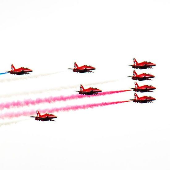 Raf Redarrows Formation WNAS2015 wales national airshow Swansea