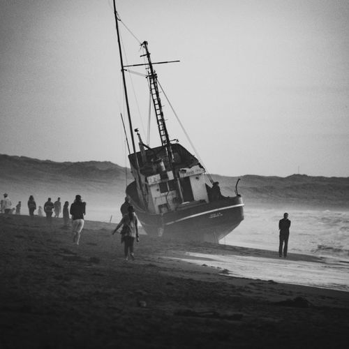 Verna II. Shipwreck Nautical Vessel Beach Bnw_planet Bnw_collection Outdoors Scenics California Coast Black And White Collection  Monochrome Sonoma Coast Beauty In Nature Black And White Friday