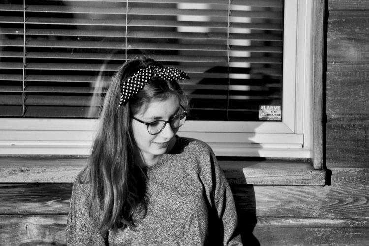 Young Adult Close-up One Person Black And White Friday Portrait Young Girl Portrait My Daughter Black And White Portrait The Portraitist - 2018 EyeEm Awards