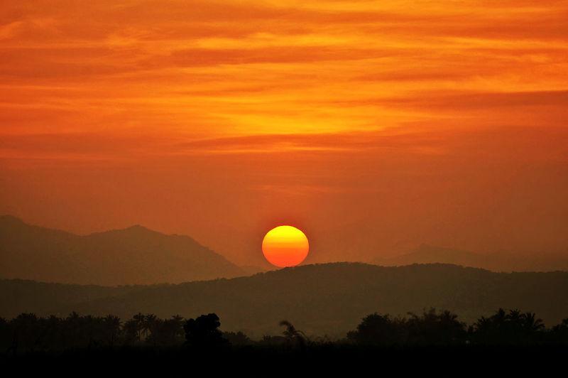Sunset above