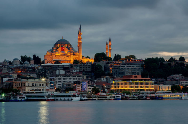 Urban landscape of Istanbul Istanbul Turkey Architecture Belief Building Building Exterior Built Structure City Cloud - Sky Government History Mosque Nature No People Outdoors Place Of Worship Religion River Sky The Past Tourism Travel Travel Destinations Water Waterfront
