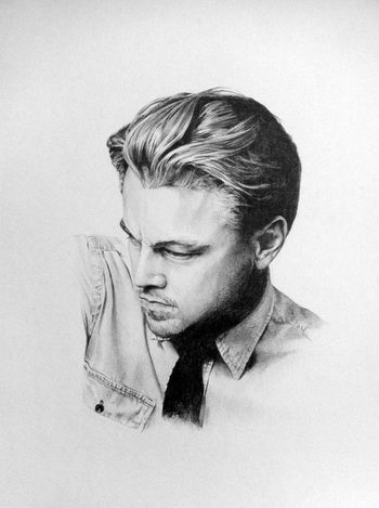 Drowing Famous Leonardodicaprio  Black & White
