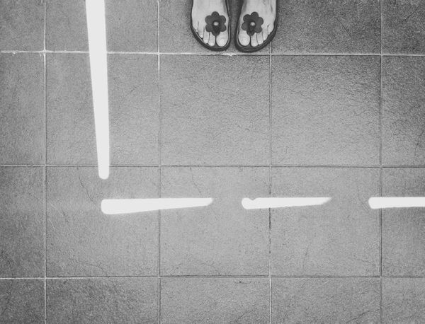 Line of light on the floor | Creative Light And Shadow Light On The Floor Buffalo Soldier Black & White Blackandwhite Shades Of Grey Getting Inspired Birkenstock Mania EyeEm Italy |