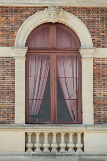 Just a lovely window... EyEmNewHere Window Courtain Rose Color EyeEm Selects City Arch History Brick Wall Architecture Building Exterior Built Structure Window Frame Façade