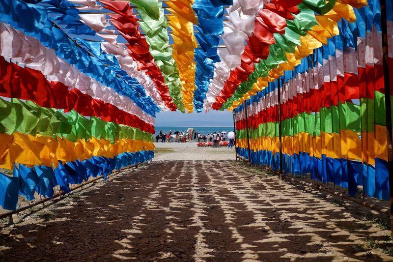 Colorful built structure