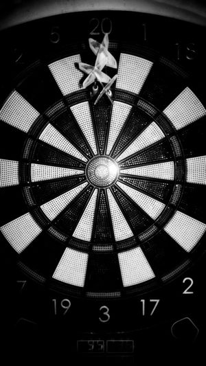 Throwing darts ... ))------> Backgrounds Indoors  Monochrome Photography Blackandwhite Photography Blackandwhite Black And White New Perspectives Smartphone Photography Indoors  Darts 180 Dartsgame Dartsport Sport Sports