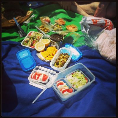 Best picnic ever! At least for today. Bento Picnic Sun Werder