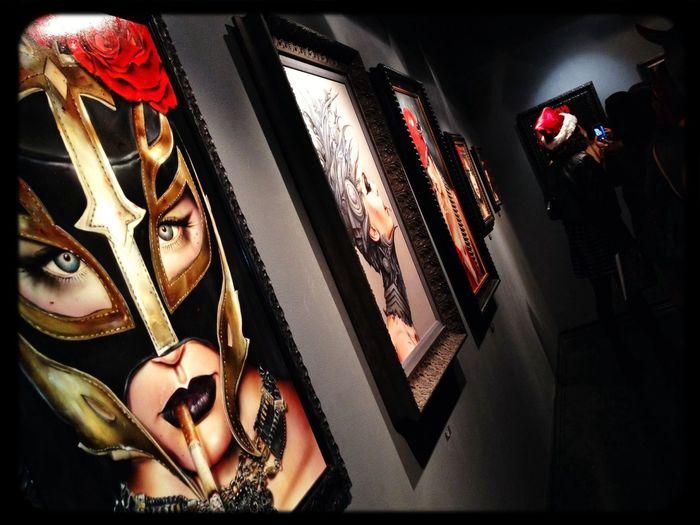 Paintings Artshow B. Viveros Awesomeness