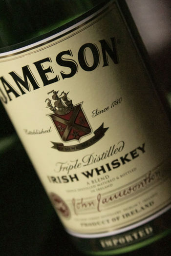 Bottle Brand Close-up Jameson Jameson Whiskey Label Logo Whiskey