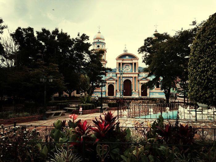 Colonial Architecture Church Park