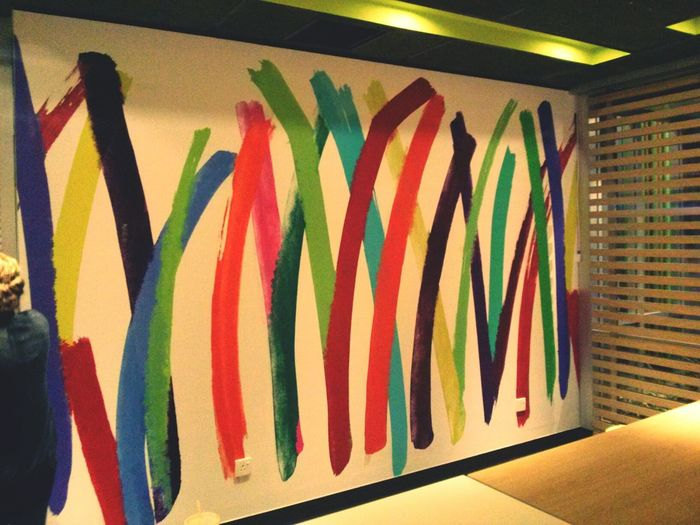 Colorful Colorful Stripes Wall Art Wall Painting/grafitti