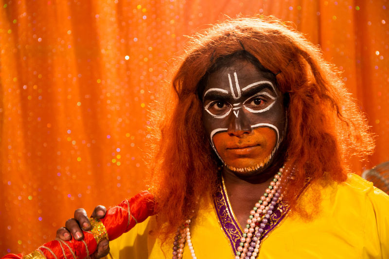 Actor India Makeup Paint The Town Yellow Theater Street Photography Streetphotography Yellow Be. Ready. An Eye For Travel