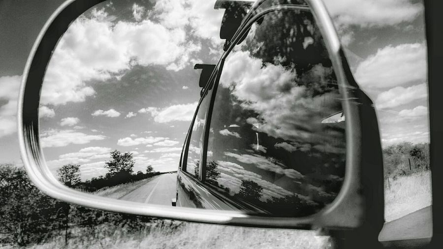 Car Cloud - Sky Reflection Land Vehicle Day Outdoors No People Sky Tree Water Photography Themes Close-up South Africa EyeEm Gallery The Week On EyeEm Faces Of Africa EyeEm Selects Peacefull Breathing Space Black & White Photography Blac&white  Travel Destinations Landscape Nature Clear Sky An Eye For Travel