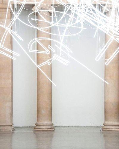 london Tate LONDON❤ Art Cy Tate Britain Museum Columns Neons Modern Art Postcode Postcards