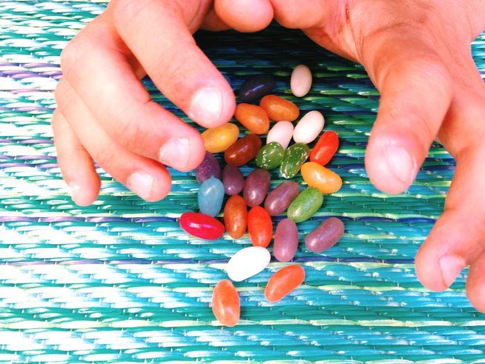 Grab'em TheWeekOnEyeEM Jellybean Candy Hands Colorful Easter Ready