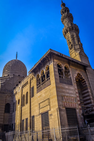 Sultan Al-Ashraf Qaytbay Mosque Architecture Blue Building Exterior Built Structure City Day Egypt History Low Angle View Mosque No People Old Building  Old Mosque Outdoors Sky Travel Destinations