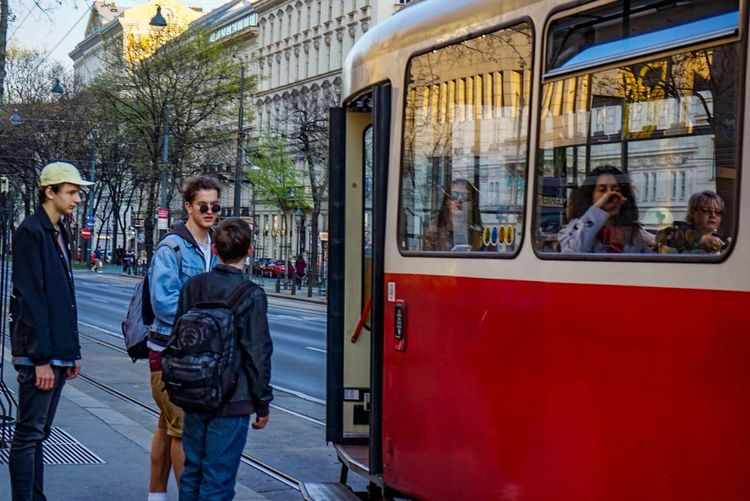 Since ever I had fascination for old trams and the history behind them, they've seen how the city and the society have changed around them. Real People Adult Public Transportation Men Day Young Men Window Lifestyles Young Adult Leisure Activity People Outdoors Adults Only City Commuter Friendship