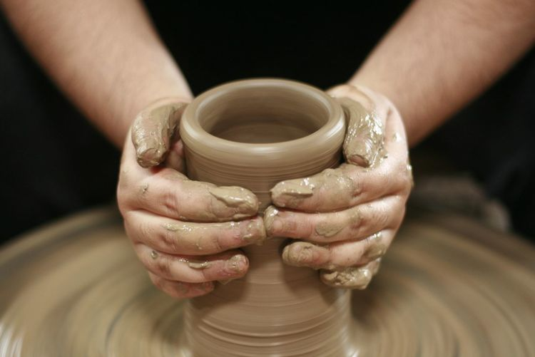 Clayman EyeEm Selects Human Hand Working Clay Men Skill  Craftsperson Occupation Making Holding Mud Earthenware Pottery Craft Product Pot Spinning