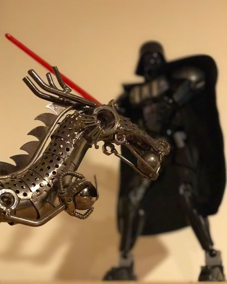 No People Close-up Indoors  LEGO Legophotography Lego Star Wars  Starwars Darthvader Darth Vader Dragon Duel Duel Of Villains Light Saber