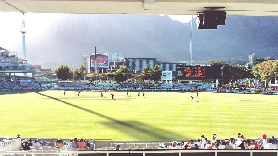tb to Newlands Cricket Ground to commemorate the Cricket world cup today. Newlands Cape Town
