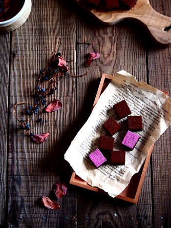 Chocolate Composition Food Art Foodie Pink Temptation Valentine's Day  Close-up Directly Above Food And Drink Foodstyling High Angle View Indoors  Sweet Sweet Food Table Wood - Material