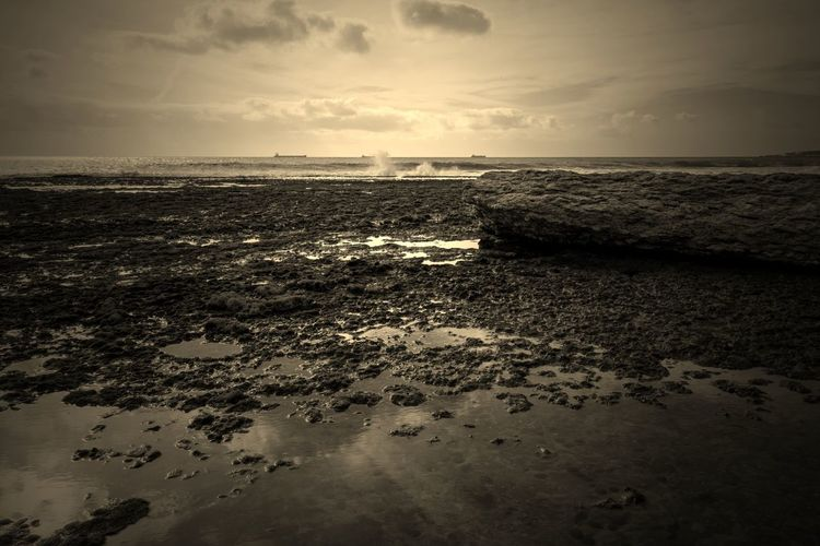 EyeEm Best Shots EyeEm Eye4photography  EyeEm Best Pics Edit Edited My Way Eyem Best Edits Seascape Seaside Motion Horizon Over Water Cloud - Sky Sea Beauty In Nature Tranquility Tranquil Scene Outdoors Beach Rock Nature Water Sepia Sepia_collection Sepiatone Sepia Toned