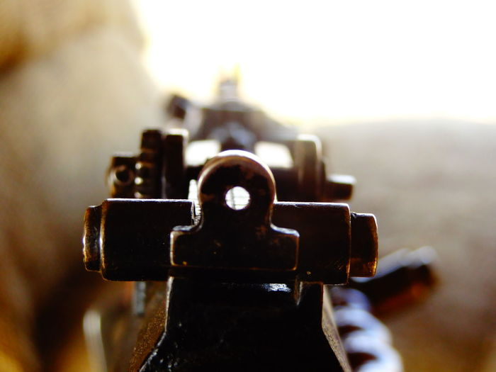 Gun Aim Army Close-up Day Fire Focus On Foreground Machine Gun Metal No People Outdoors Selective Focus Sky Weapon