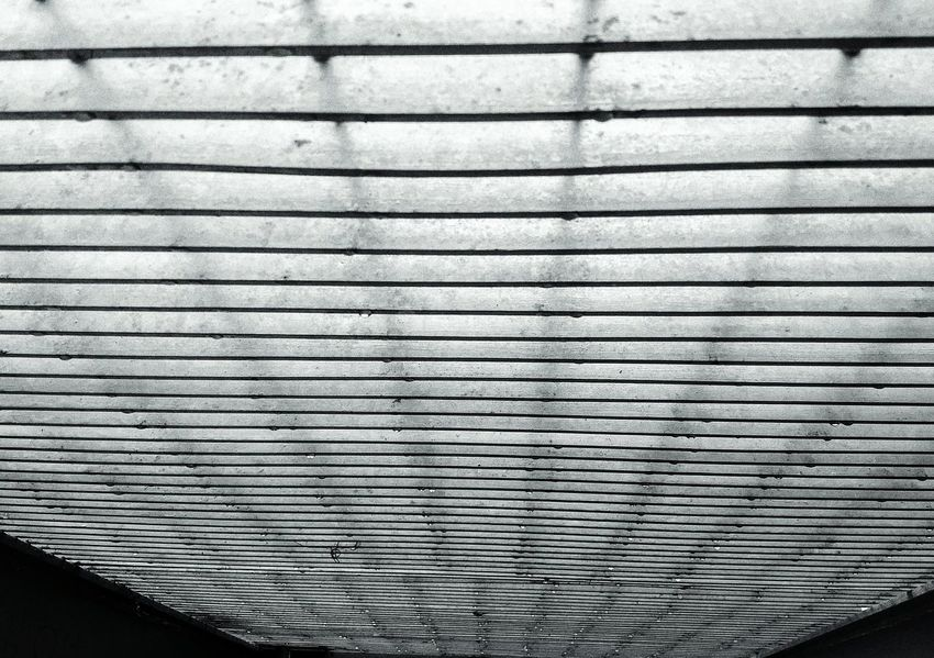 Outdoors Industry Grating leading Lines And Angles Drops Droplets Rain Overhead Pattern Backgrounds No People Full Frame Day Textured  Close-up Indoors  Corrugated Iron Calm Metal The Week On EyeEm Parallel EyeEmNewHere