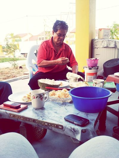 durian feast Durian Pulut Makan! Smelly #lovedaddy